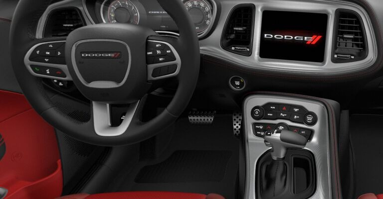 2020 Dodge Challenger colors Black and Ruby Red