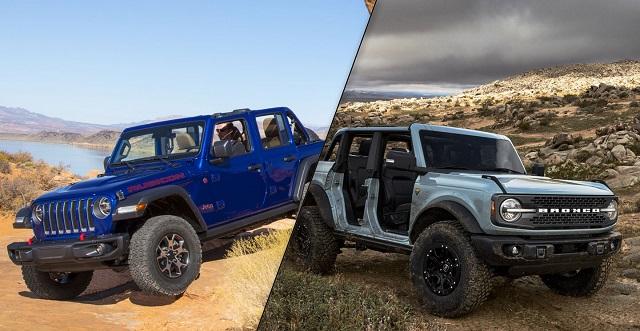 2021 Jeep Wrangler vs Ford Bronco comparison